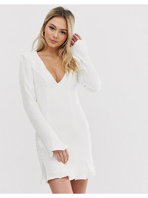THE EAST ORDER angie flippy mini dress-white