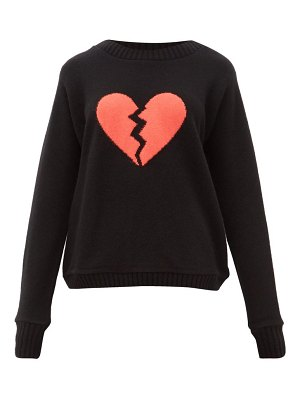 The Elder Statesman broken heart intarsia cashmere sweater