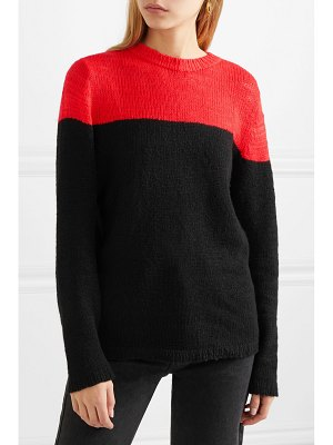 The Elder Statesman dipped picasso two-tone cashmere sweater