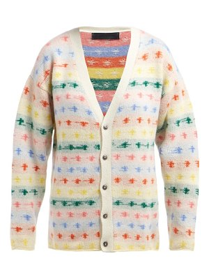 The Elder Statesman fireside intarsia knit cashmere cardigan