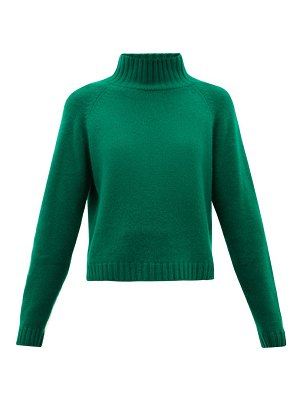 The Elder Statesman highland stand-collar cropped cashmere sweater