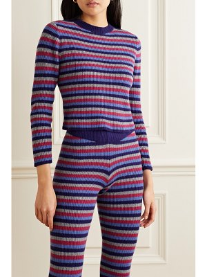 The Elder Statesman ribbed striped cashmere sweater