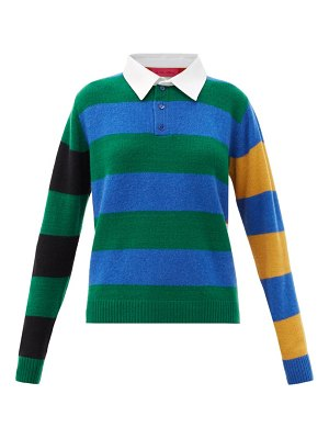 The Elder Statesman striped cashmere rugby sweater