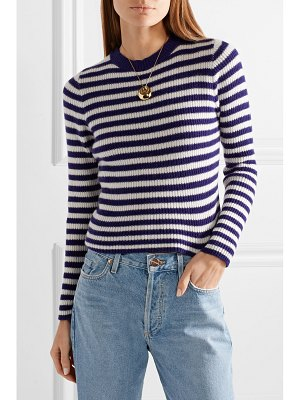 The Elder Statesman striped ribbed cashmere sweater