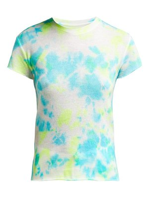 The Elder Statesman Tie Dye Cashmere And Silk Blend T Shirt