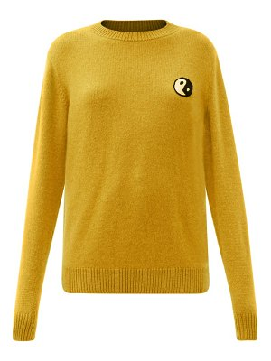 The Elder Statesman yin and yang-embroidered cashmere sweater