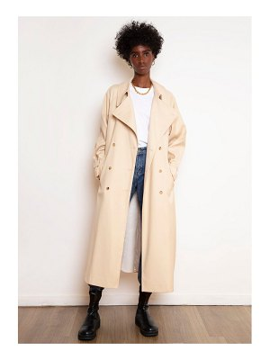 THE FRANKIE SHOP Classic woven trench coat