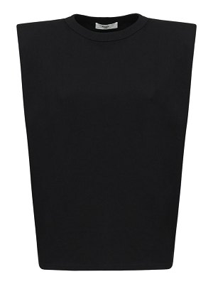 THE FRANKIE SHOP Eva jersey t-shirt w/ padded shoulders