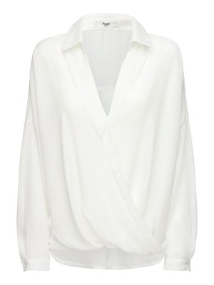 THE FRANKIE SHOP Noemie satin wrap shirt