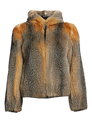 The Fur Salon fox fur hooded jacket