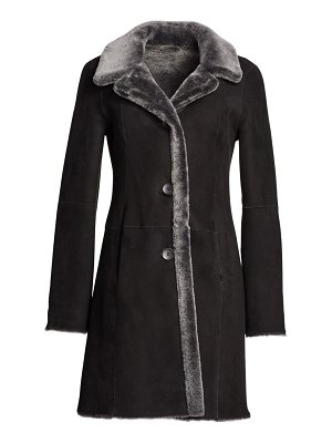 The Fur Salon lamb shearling reversible coat