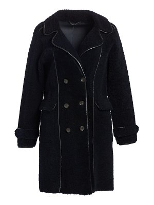 The Fur Salon shearling double-breasted coat