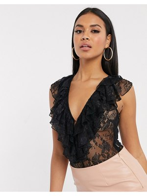The Girlcode lace body in black