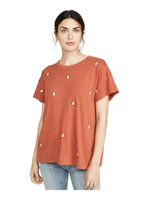 The Great boxy crew tee with wildflower embroidery
