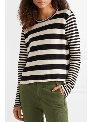 The Great striped cotton-jersey top