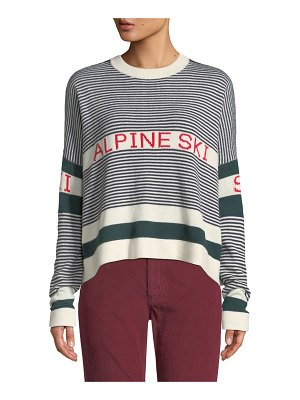 The Great The Alpine Ski Striped Pullover Sweater