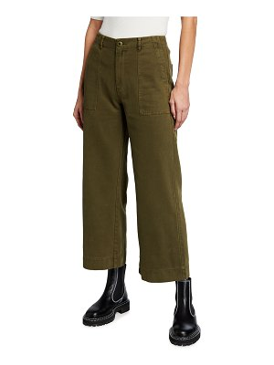 The Great The Army Rider Twill Wide-Leg Pants