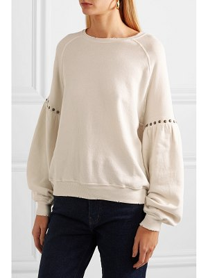The Great the bishop studded cotton-jersey sweatshirt