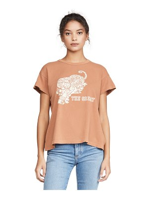 The Great the boxy crew tee with tiger graphic
