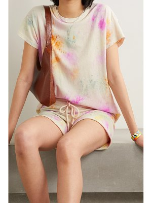 The Great the boxy crew tie-dyed cotton-jersey t-shirt