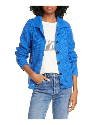 The Great the cable cotton blend cardigan