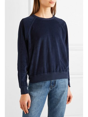 The Great the college cotton-blend velour sweatshirt