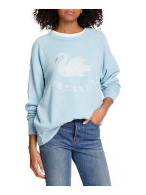 The Great the college swan french terry sweatshirt