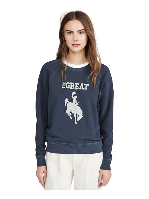 The Great the college sweatshirt with cowgirl graphic