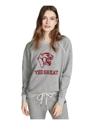 The Great the college sweatshirt with jaguar graphic