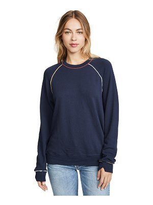 The Great the college sweatshirt with multi piping