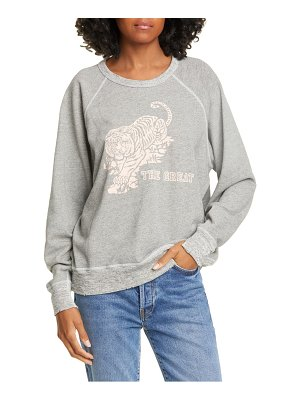 The Great the college tiger print sweatshirt
