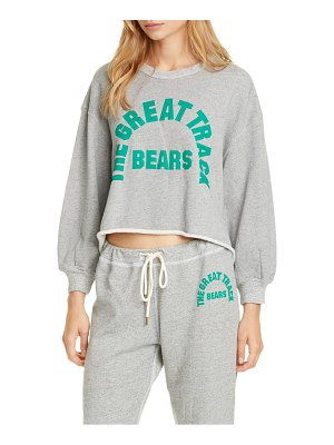 The Great the cut off sweatshirt with bears graphic