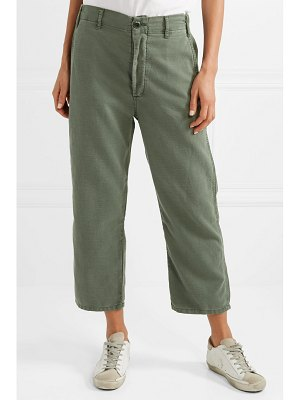 The Great the easy army cropped canvas pants