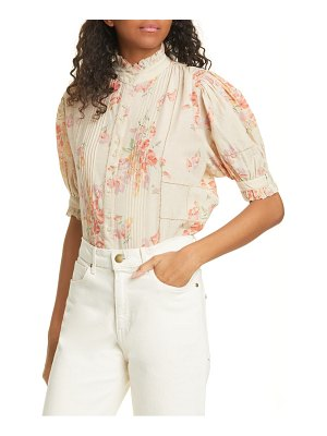 The Great the fiddle pleated floral print top