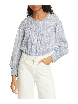 The Great the folk floral print top