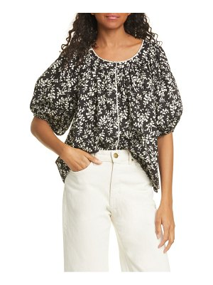 The Great the elm floral puff sleeve top