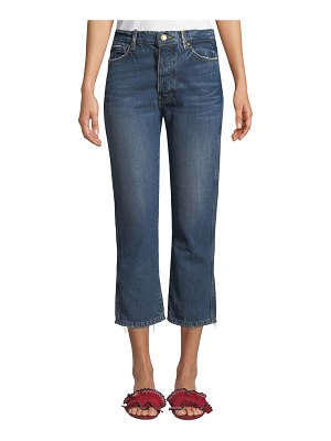 The Great The Gent Cropped Straight-Leg Jeans