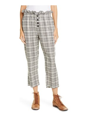The Great the gunny sack plaid paperbag waist trousers