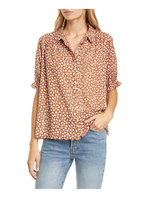 The Great the kerchief floral print cotton top