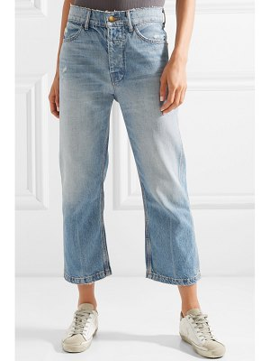 The Great the railroad cropped distressed boyfriend jeans