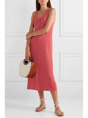 The Great the snap tank cotton-jersey midi dress