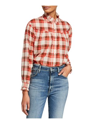 The Great The Snow Cap Yoked Button-Up Plaid Shirt