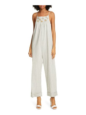 The Great the tie up embroidered jumpsuit