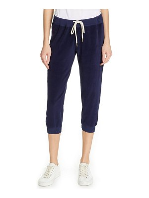 The Great the velour crop sweatpants
