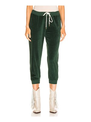 The Great Velour Cropped Sweatpant