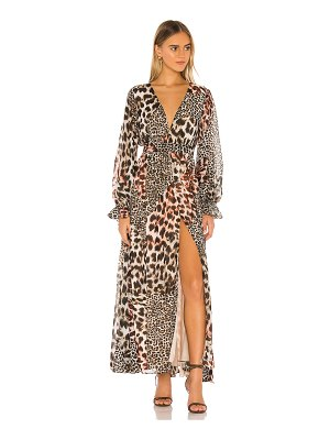 The Jetset Diaries nine lives maxi dress