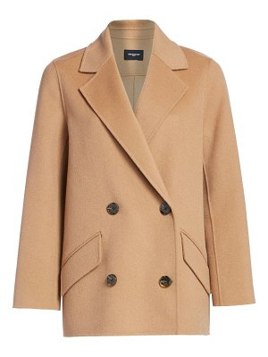 The Kooples double-breasted wool fringed coat