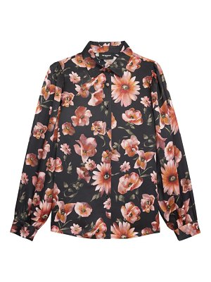 The Kooples floral button-up blouse