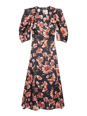 The Kooples floral puff-sleeve dress