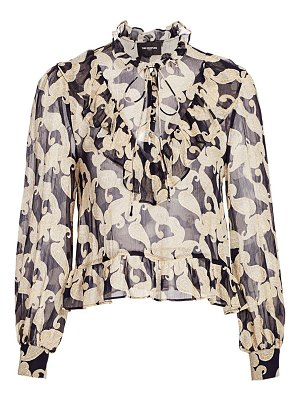 The Kooples high-neck tie blouse